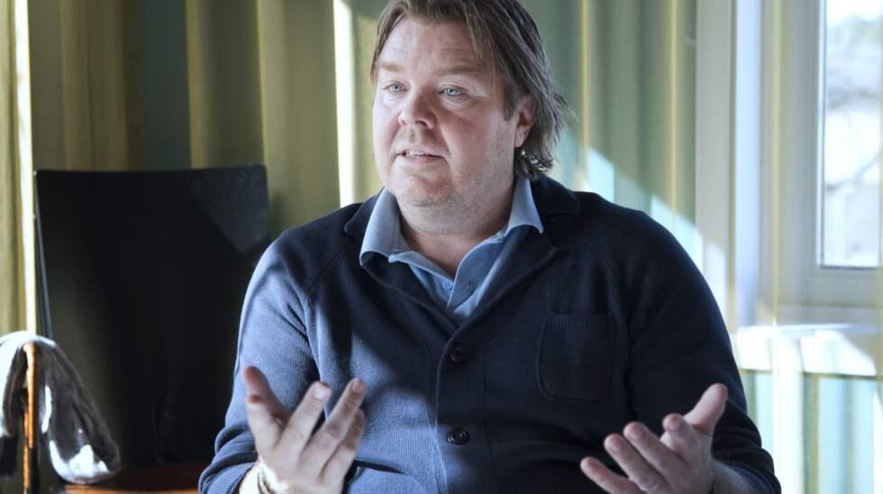 När Klas Ingensson kommer på tal tåras Tomas Brolins ögon. Foto: Sven Lindwall