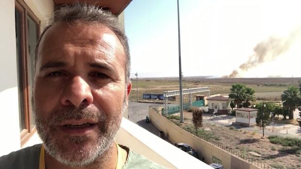 """Kassem Hamadé: """"Jag hör eldstrid inne i staden"""""""