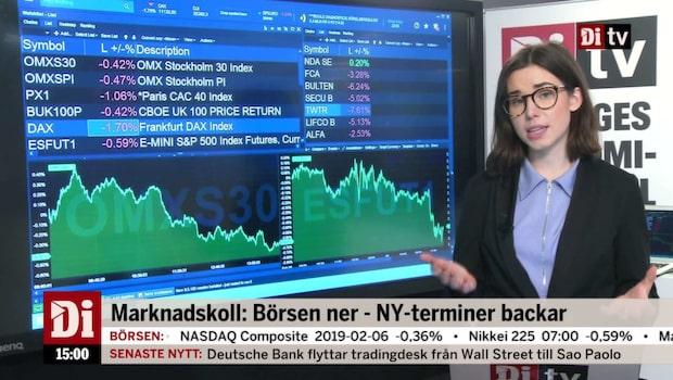 Di Nyheter 15.00 - Twitter rasar i amerikansk förhandel