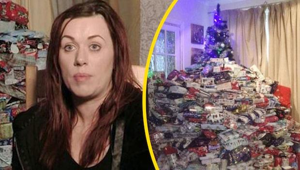 Emma, 36, köper över 90 julklappar till sina barn
