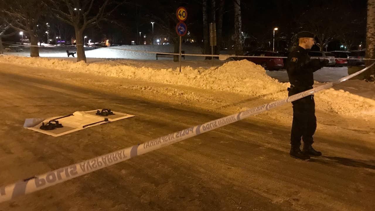Flera personer hittade skjutna i Borlänge