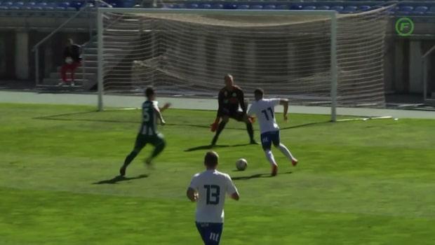 Jordan Larsson tvåmålskytt för Norrköping