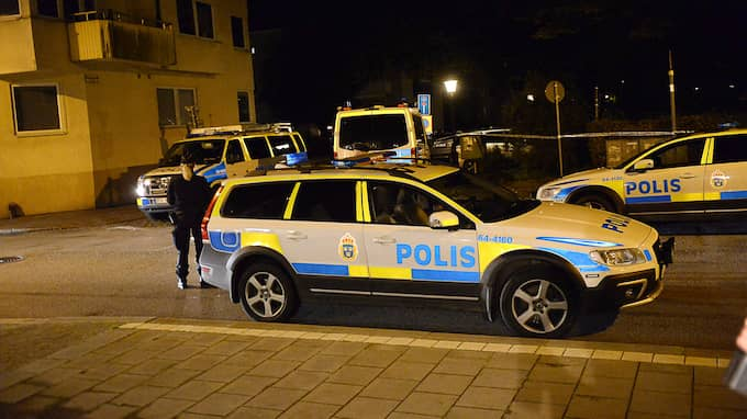 En av de skadade misstänks för mordförsök. Foto: FRITZ SCHIBLI / EXPRESSEN/KVP
