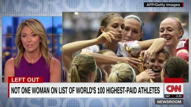 Ingen kvinna med på listan över atleter som tjänar mest