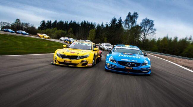 Nya team Kia utmanar mästarna Volvo med tre stycken Kia Optima.