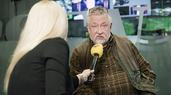 Leif GW Persson intervjuas av Tess Ulander. Foto: Olle Sporrong