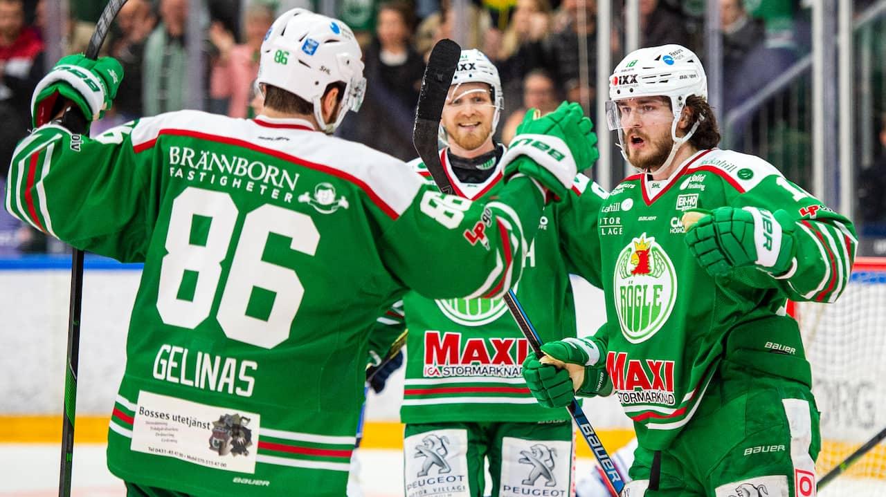 Rögle körde över Växjö – tog sjätte raka segern