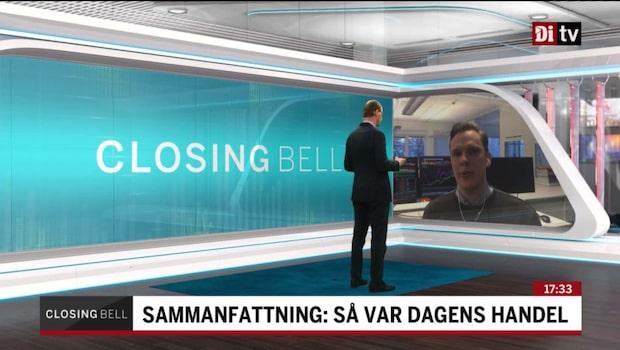 Stockholmsbörsen stängde på minus