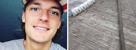 """Daniel, 21, hittade spetsade pålar vid badplats: """"Sjukt"""""""