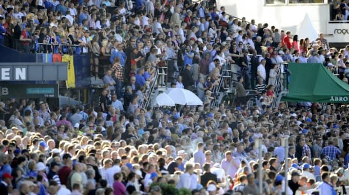 Elitloppet, årets största händelse i trav-Sverige, lockar varje år uppemot 30 000 besökare. Foto: Niklas Larsson