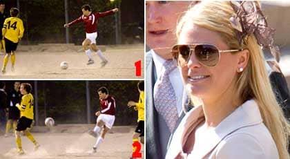 Tveksamt om Jonas kan försörja sin Madeleine på fotbollsspelandet. Foto: Stefan Söderström, Suvad Mrkonjic