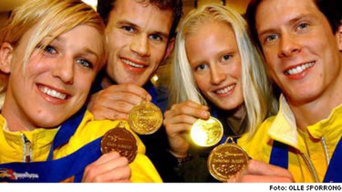 Guld-Kajsa! Guld-Stefan! Guld-Carolina! Guld-Christian!