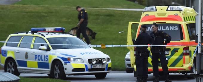 En person har avlidit efter en skottlossning i Limmared i Tranemo kommun öster om Borås. Foto: JOAKIM ERIKSSON