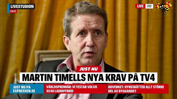 Martin Timells nya krav – 10 miljoner från TV4