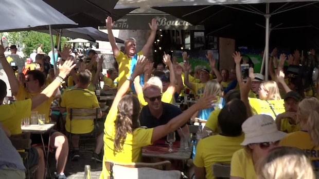 Svenska fans laddar upp i Frankrike