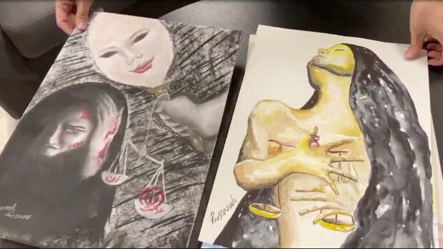 Nedas teckningar visar kvinnoförtrycket i Iran