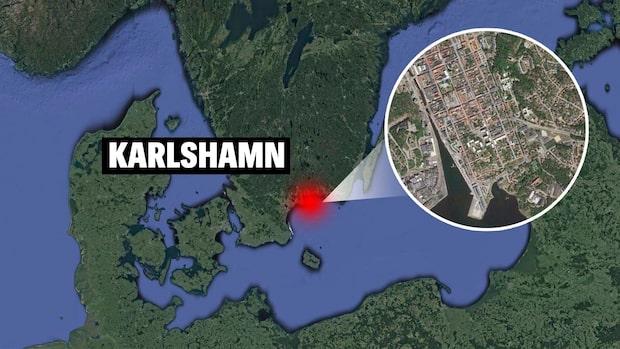 Kvinna död efter villabrand i Karlshamn