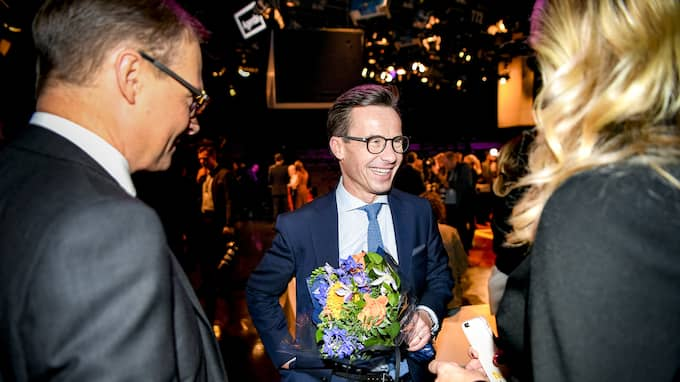 Moderaternas nye partiledare Ulf Kristersson blev debattens vinnare i Expressen/Demoskop. Foto: ALEX LJUNGDAHL