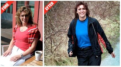 FÖRE: Överviktig och trött. Carina Strand satt mest i tvsoffan på kvällarna. EFTER Piggare och i form. Med dagliga promenader har Carina Strand, 41, gått ned sju kilo.