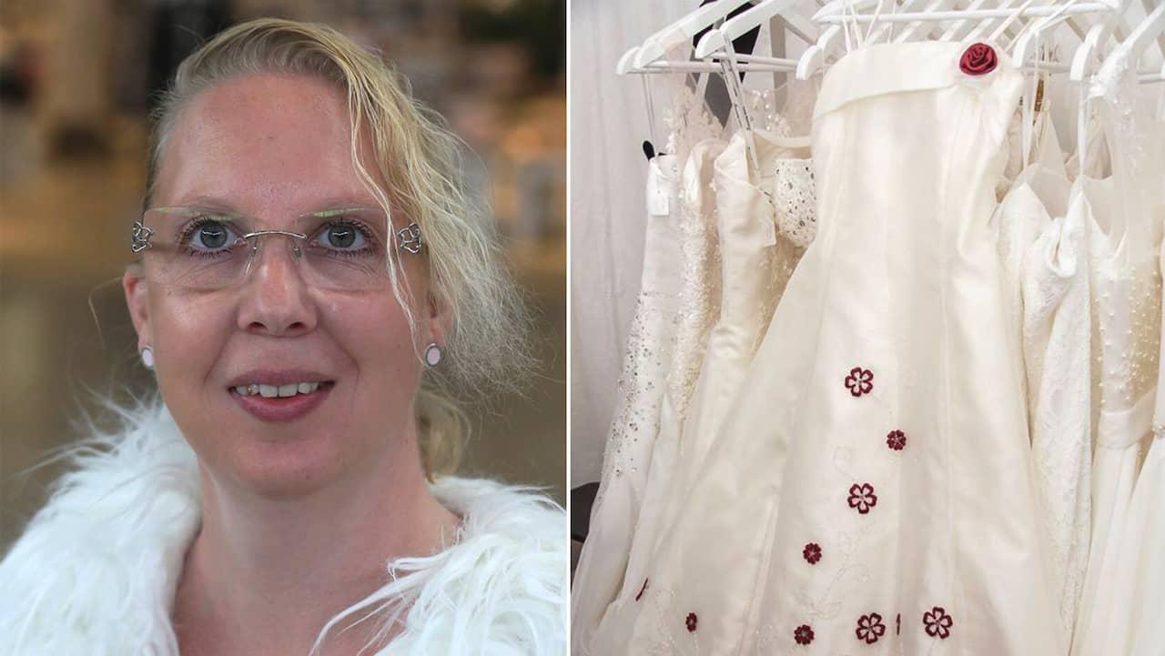 55254bb8508f Helene Johansson återvinner gamla bröllopsklänningar