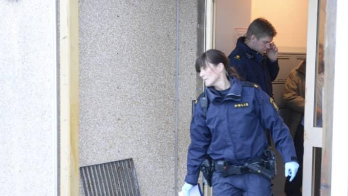 Polisen på plats. Foto: Fritz Schibli