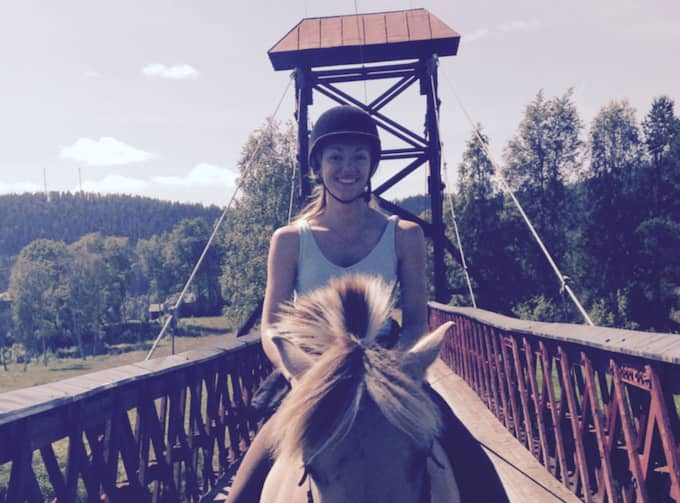 """""""Jag har erbjudanden om boende och det kommer jag att ta fasta på men jag räknar med att blir väldigt mycket camping"""", säger hon. Foto: Privat"""