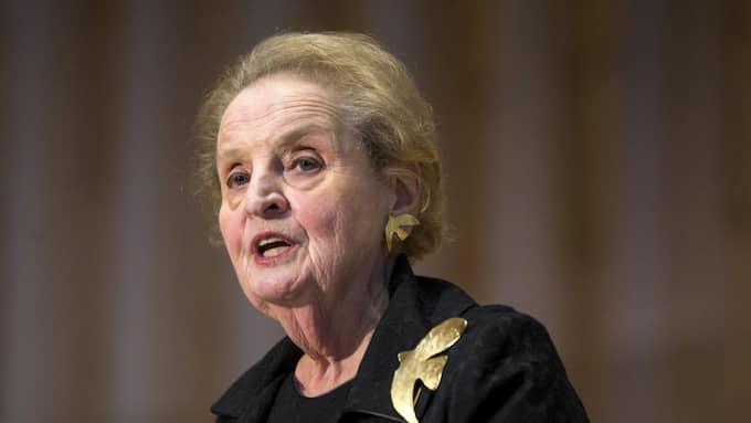 Madeleine Albright, USA:s första kvinnliga utrikesminister. Foto: Zach Gibson / AP/ TT