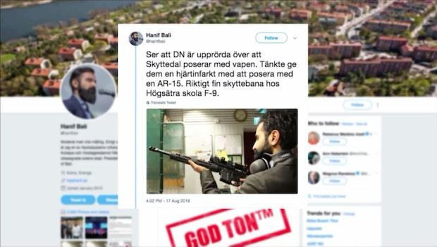 Jan Björklund (L) kritisk mot Hanif Balis vapen-bild