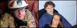 Brandmannen Andreas, 45, dog när han släckte elden