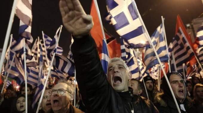 Grekiska högerextrema partiet Gyllene gryning fick mandat i Europaparlamentet.