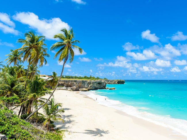 Barbados har några av världens vackraste stränder. Här är Bottom Bay.