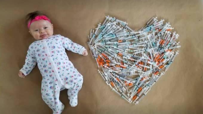 Bilden symboliserar föräldrarnas kamp för att få barn. Foto: Facebook / Nancy Weiss