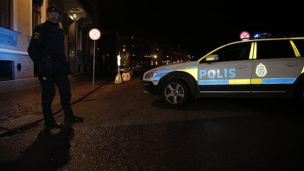 Brinnande föremål har kastats mot synagoga