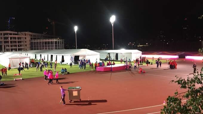 Hit fördes Usain Bolt efter skadan. Foto: Ludvig Holmberg