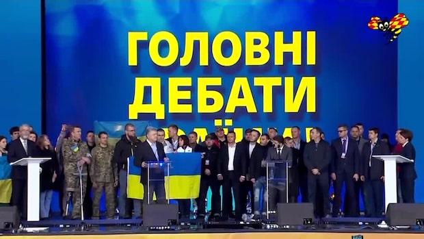 Komiker möter president i Ukrainas val