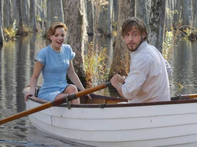 "Gosling och McAdams i ""The Notebook""."