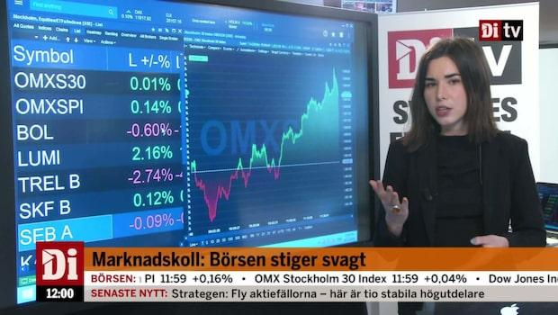 Di Nyheter 12.00: Tesla faller i förhandeln efter investeringsstopp