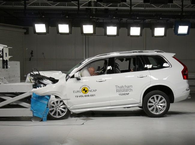 Volvo XC90 är den säkraste bilen som någonsin testats av EuroNCAP.