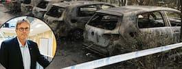 Bilbränderna kan vara en protest mot polisen