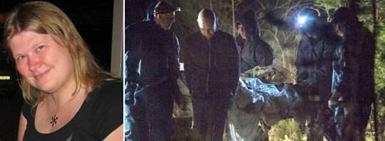 Bärgar fynden. I går kväll hämtade polisen vad som troligen är kvarlevorna av en människa. Foto: ANDERS YLANDER Foto: Anders Ylander, Privat