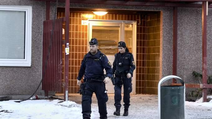Polisen kallades till platsen den 15 januari i år. Foto: CLAUDIO BRESCIANI/TT / TT NYHETSBYRÅN