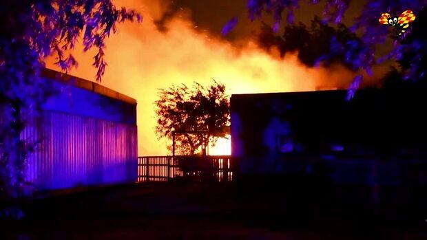 Brand rasar på skola i Hjärup