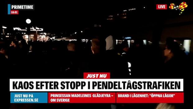 Totalstopp i pendeltågstrafiken i Stockholm