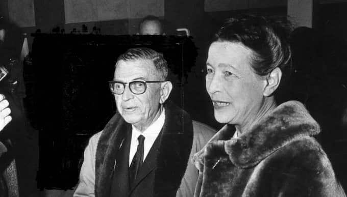 #1 Sartre och Simone de Beauvoir, en ivrig författare av nyckelromaner och memoarer. Foto: Folke Hellberg