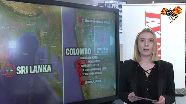 Här har attackerna i Sri Lanka skett