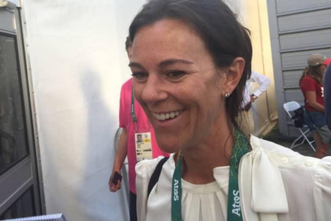 Charlotte Söderström vid OS i Rio, där hennes häst All in med ryttaren Peder Fredricson tog silver.