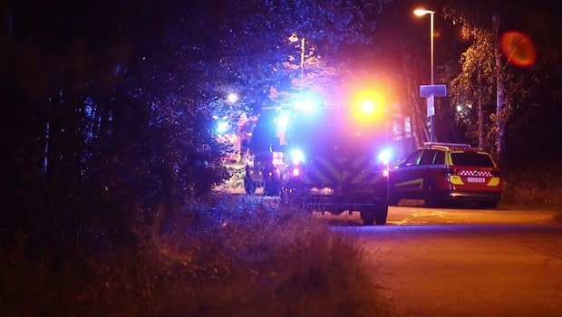 Tiotal bilar i brand på parkering