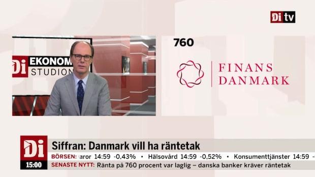 Dagens siffra: Finans Danmark vill se räntetak