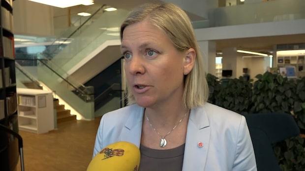 Magdalena Andersson (S): M, KD och SD ökar orättvisan