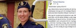 Polisen Sara kallades för  köksbiträde i tjänsten